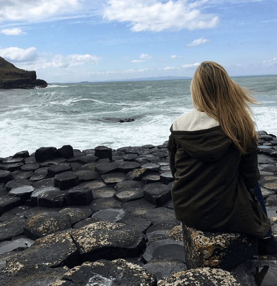 Lindsay at the Giants Causeway.